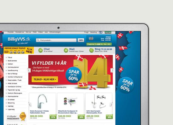 BilligVVS.dk webshop
