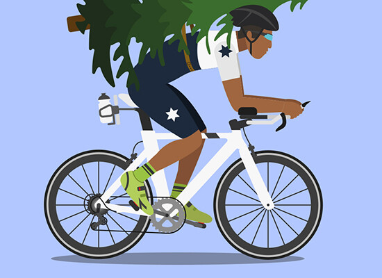 Cycling Home For Christmas… – Flat Design