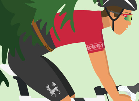 Cycling Home For Christmas… – Flat Design Vol. 2