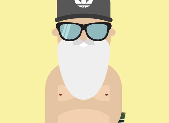 Flat Santa Claus Character – Work & Hobby
