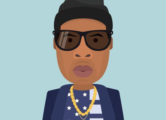 Flat Character Jay-Z, Shawn Corey Carter