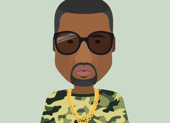 Flat Character Kanye Omari West