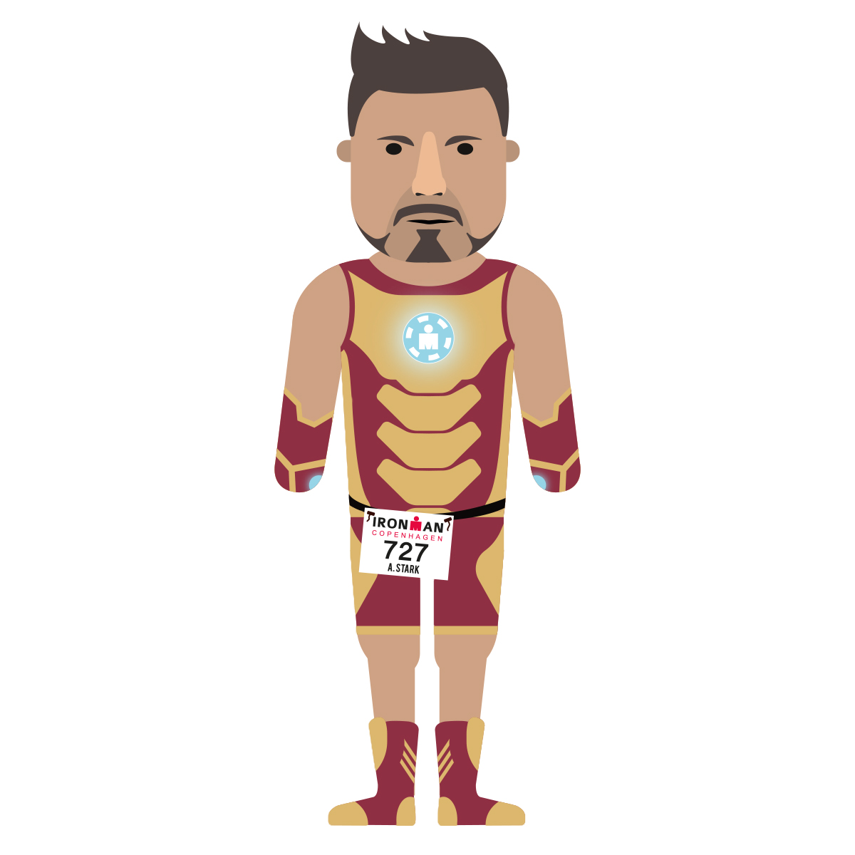 single_flat_design_tony_star_ironman