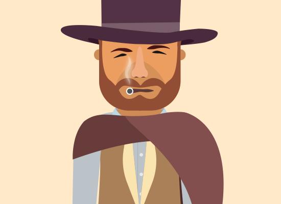 Flat Character – Clint Eastwood