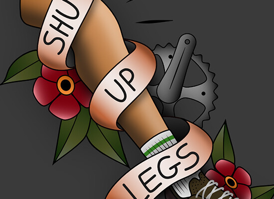 Shut up legs – Old School Tattoo Style